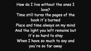Repeat youtube video Avenged Sevenfold - So Far Away LYRICS