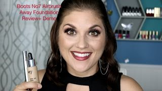 boots no7 airbrush away foundation demo review