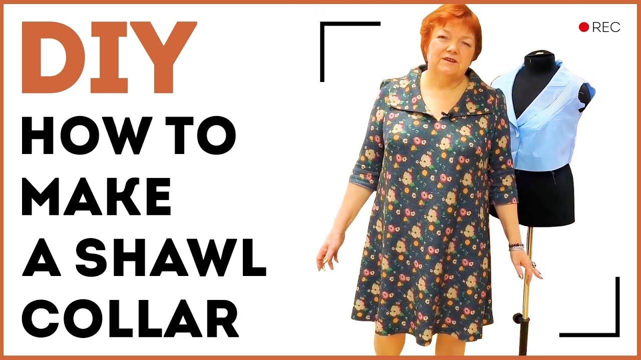 DIY: How to make a shawl collar. Making a sewn-in shawl ...