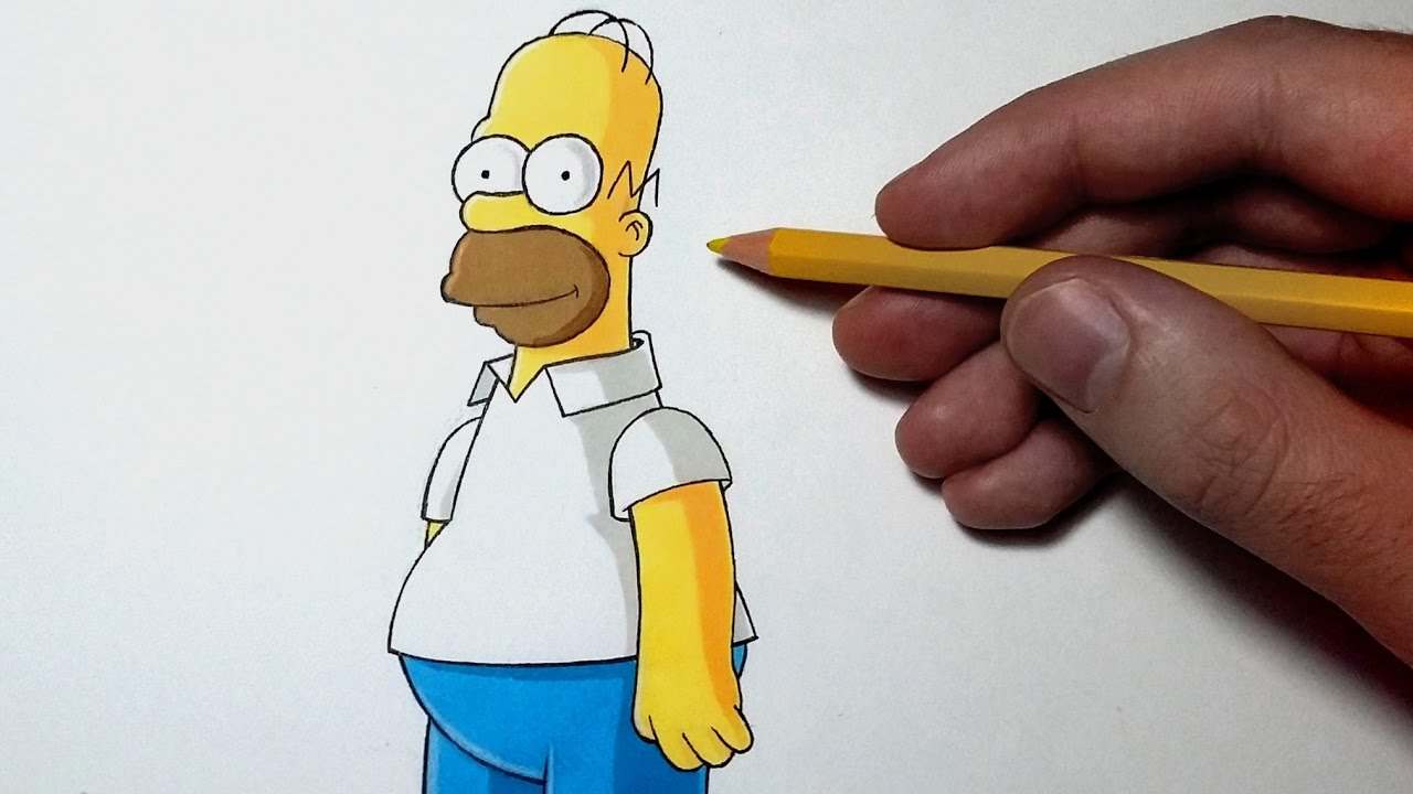 Comment dessiner homer simpson tutoriel youtube - Comment dessiner les simpsons ...