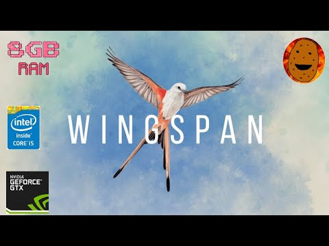 Wingspan Gameplay - Perfect game for low end PC |
