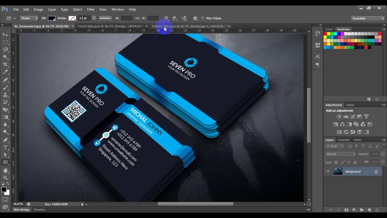 Professional Business Card Design Tutorial Photoshop Business Card Design Photoshop Cs6 Tutorial