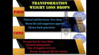 Transformation Weight Loss Drops Review