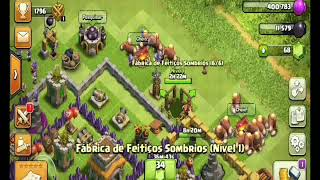 FINALMENTE, TORRE DE BOMBAS E FÁBRICA DE FEITIÇO SOMBRIO!!!! - CLASH OF CLANS!!