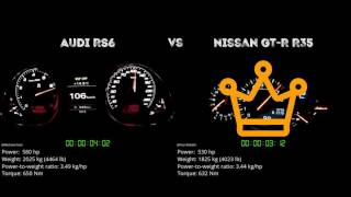 Audi RS6 vs. Nissan GT-R R35 - the 0-100 km/h duel. Which one is fa...