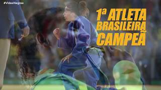 A campeã olímpica Rafaela Silva está com a ONU na campanha #VidasNegras