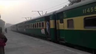 38 DN Fareed Express Arriving Kasur Junction with ZCU-20 6408
