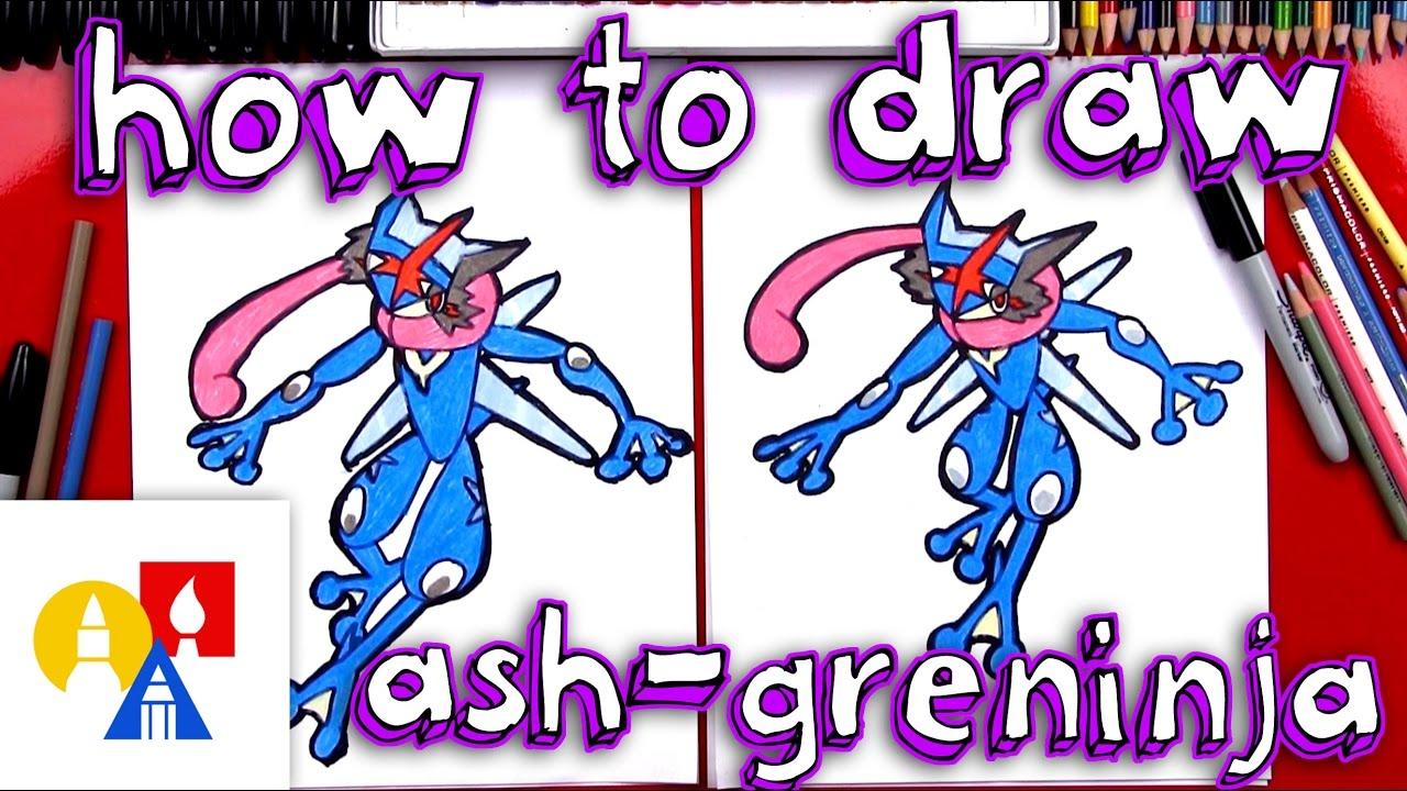 Uncategorized How To Draw Ash From Pokemon how to draw ash greninja pokemon youtube