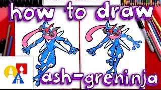 How To Draw Ash-Greninja Pokemon