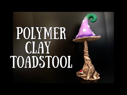 Polymer Clay Toadstool / Mushroom Tutorial   Fantasy Art Timelapse thumbnail