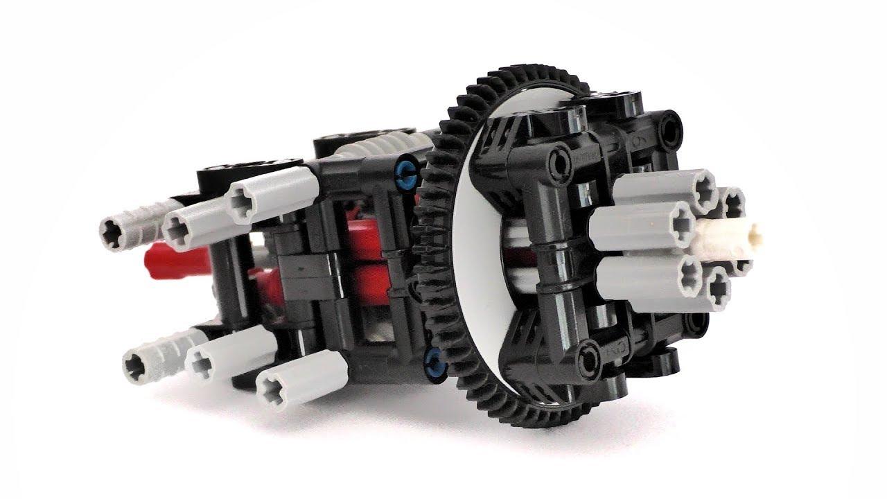 Lego Technic 7 Axles Through 1 Turntable Mechanism Instructions