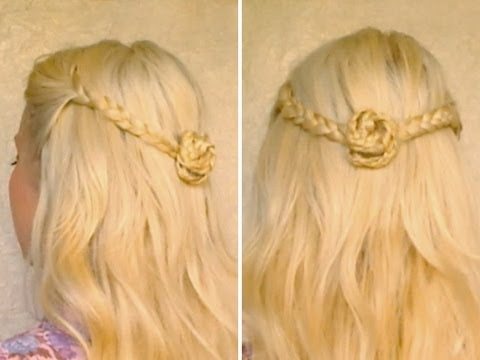 easy up styles for long hair easy half updo for hair прически на каждый день 5072 | hqdefault