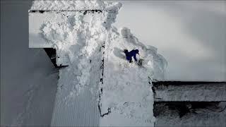 自宅の雪下ろしをドローンで撮影してもらいました。 生動画を4倍速編集...