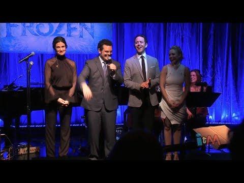 """Frozen"" stars sing live in Disney music celebration - Idina Menzel, Kristen Bell, Josh Gad"