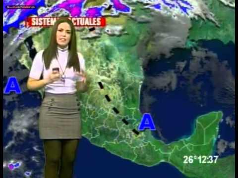 be86651ba Brenda Cavazos mini falda gris, medias y blusa negra