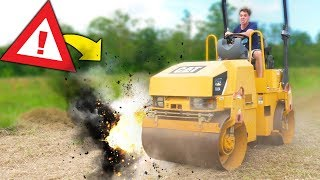10000 POUND ROLLER VS OBJECTS!