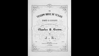Yellow Rose of Texas (1858)