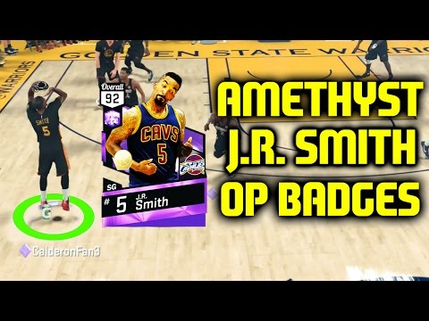 AMETHYST JR SMITH WITH OP BADGES! NBA 2K17 MYTEAM ONLINE GAMEPLAY
