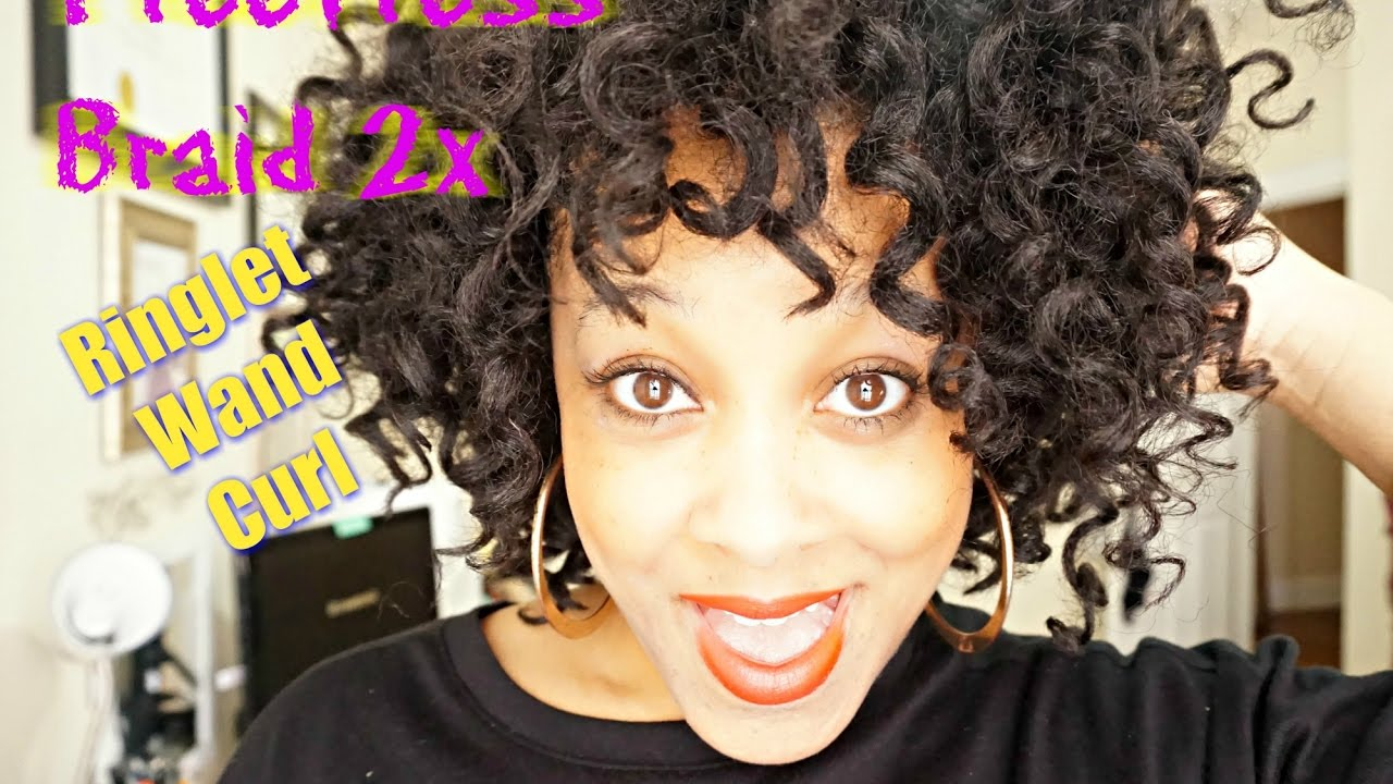 How To Crochet Braid With Freetress Ringlet Wand Curl: Curly Crochet Braids  Protective Style