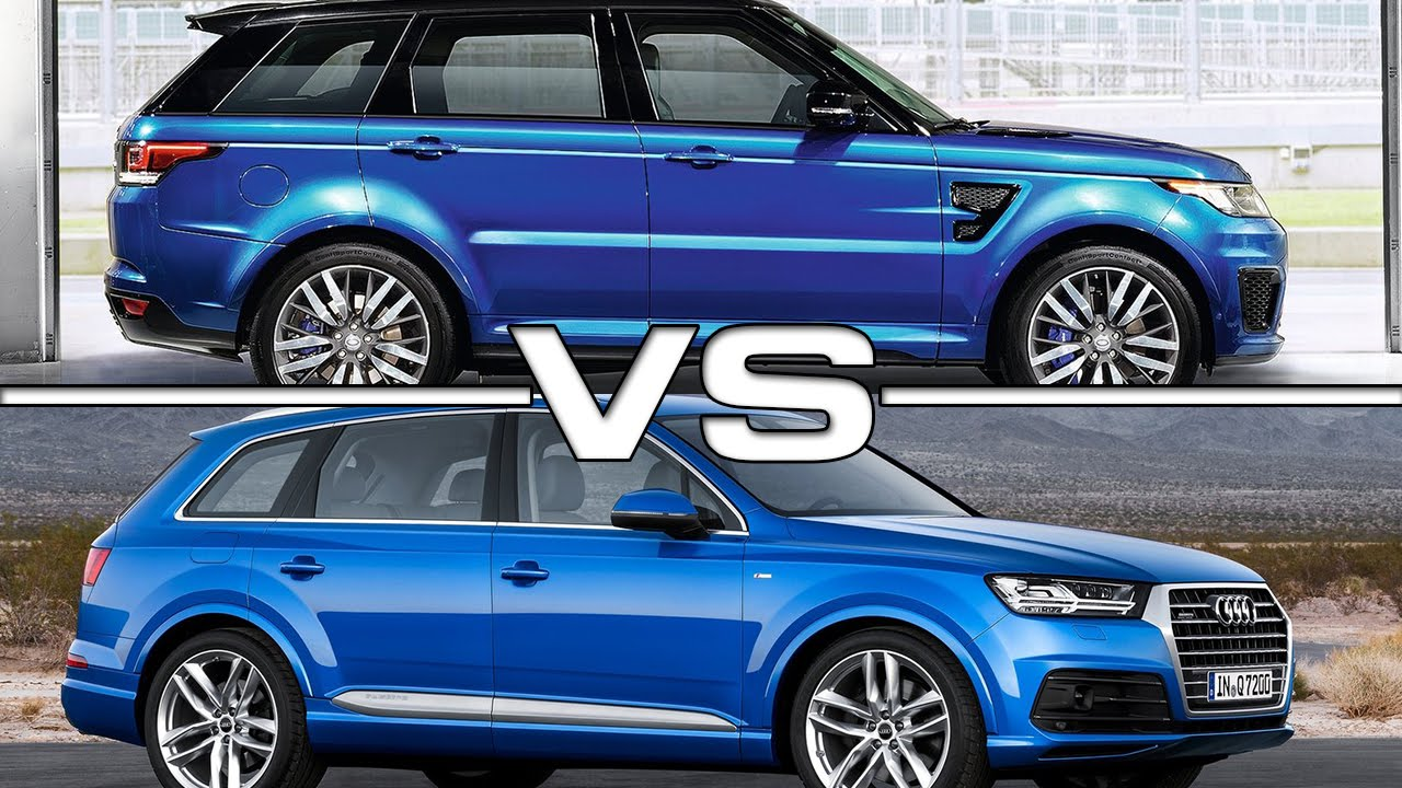 range rover sport svr vs audi q7 youtube. Black Bedroom Furniture Sets. Home Design Ideas