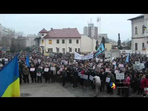 Protest împotriva mutării sediului social al Complexului Energetic Oltenia la București