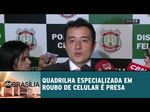 Quadrilha especializada em roubo de celular é presa | SBT Brasília 06/09/201