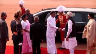 state visit the president of sri lanka at rashtrapati bhavan on 16 2 2015