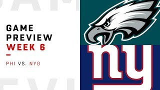 Philadelphia Eagles vs. New York Giants | Week 6 Game Preview | Keys to the Game