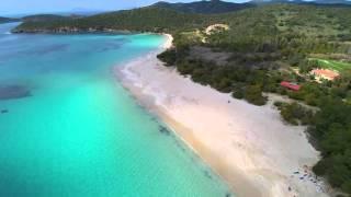 Spiaggia di Tuerredda, Sardegna - Aerial Drone Video HD