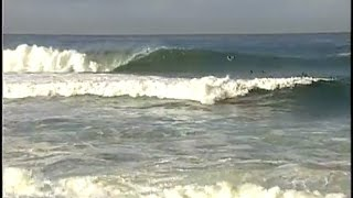 This is Big Rock on a fair size West swell. The tide topped out at ...