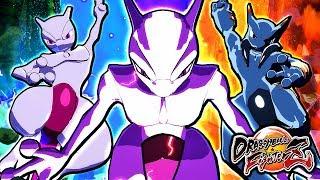 Dragon Ball FighterZ PC Mods: Mewtwo & Mega Mewtwo X & Y Transformation Gameplay + Shadow Mewtwo