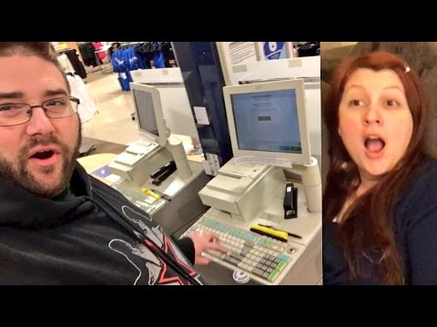 DAUGHTERS FREAKOUT! RINGING MYSELF UP AT THE STORE! SHOPPING FOR PS4 GAMES AND TOYS!