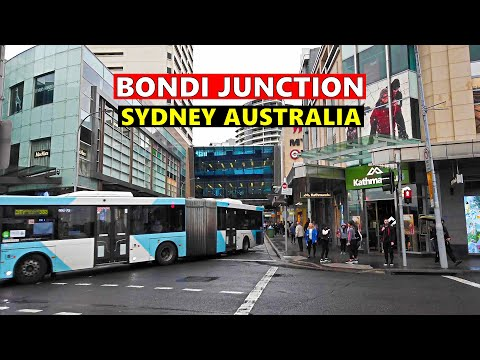 BONDI JUNCTION City Centre Walking Tour On A Rainy Day SYDNEY AUSTRALIA