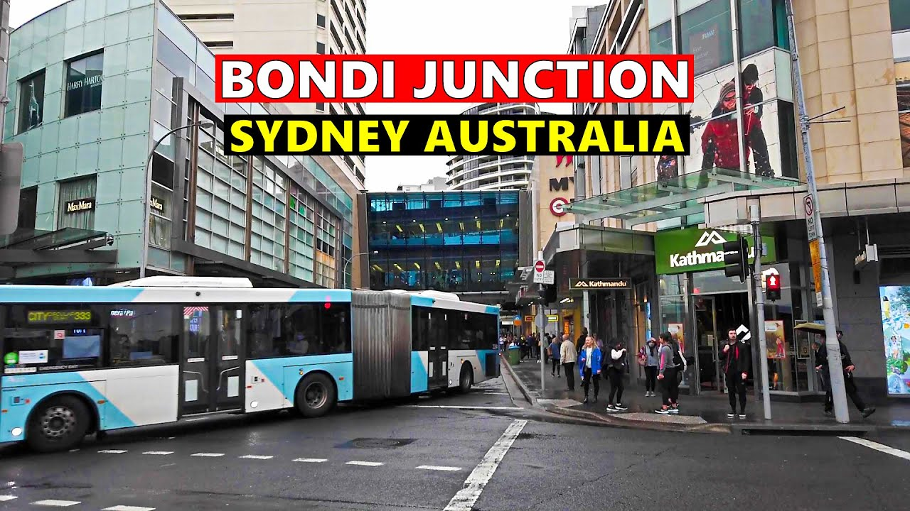 BONDI JUNCTION City Centre Walking Tour On A Rainy Day SYDNEY AUSTRALIA