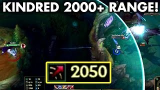 2000+ ATTACK RANGE KINDRED! KILLING BARON FROM RED BUFF PIT! (Kindred Rework)