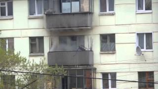Пожар на улице Терешковой  г.Липецк