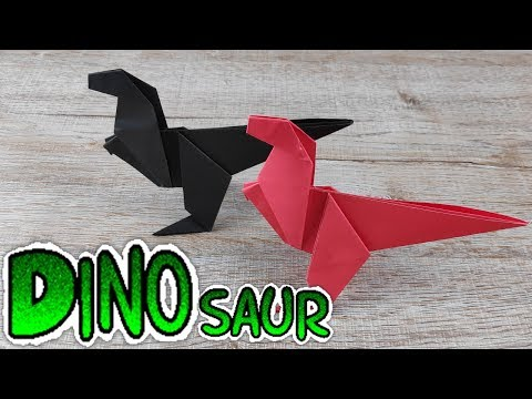 DIY Origami Dinos for Kids | How To Make Easy Dinosaur Paper Tutorial | Toy Crafts Idea