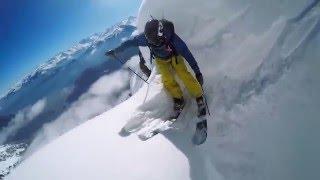 Безбашенный лыжник.
