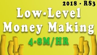 Runescape 3 2018 - Low-Level Money Making Guide 4-8m!