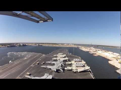 Time Lapse of USS Enterprise (CVN 65) arriving Mayport, FL