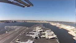 Time Lapse of USS Enterprise (CVN 65) arriving Mayport, FL