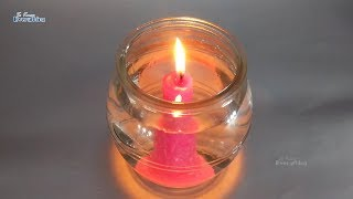 How to burn a candle underwater Science Project | Underwater Candle - Science Experimant