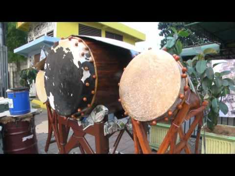 Traditional Ramadan drum ''Bedug'' in Indonesia