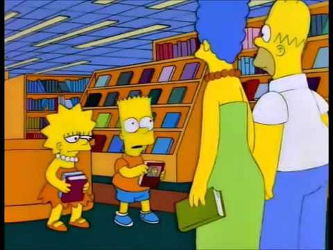 The Simpsons buying books