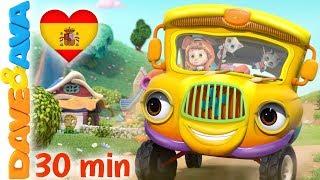 🚌 Las Ruedas del Autobús y Más Canciones Infantiles   Música para Niños   Dave y Ava 🚌