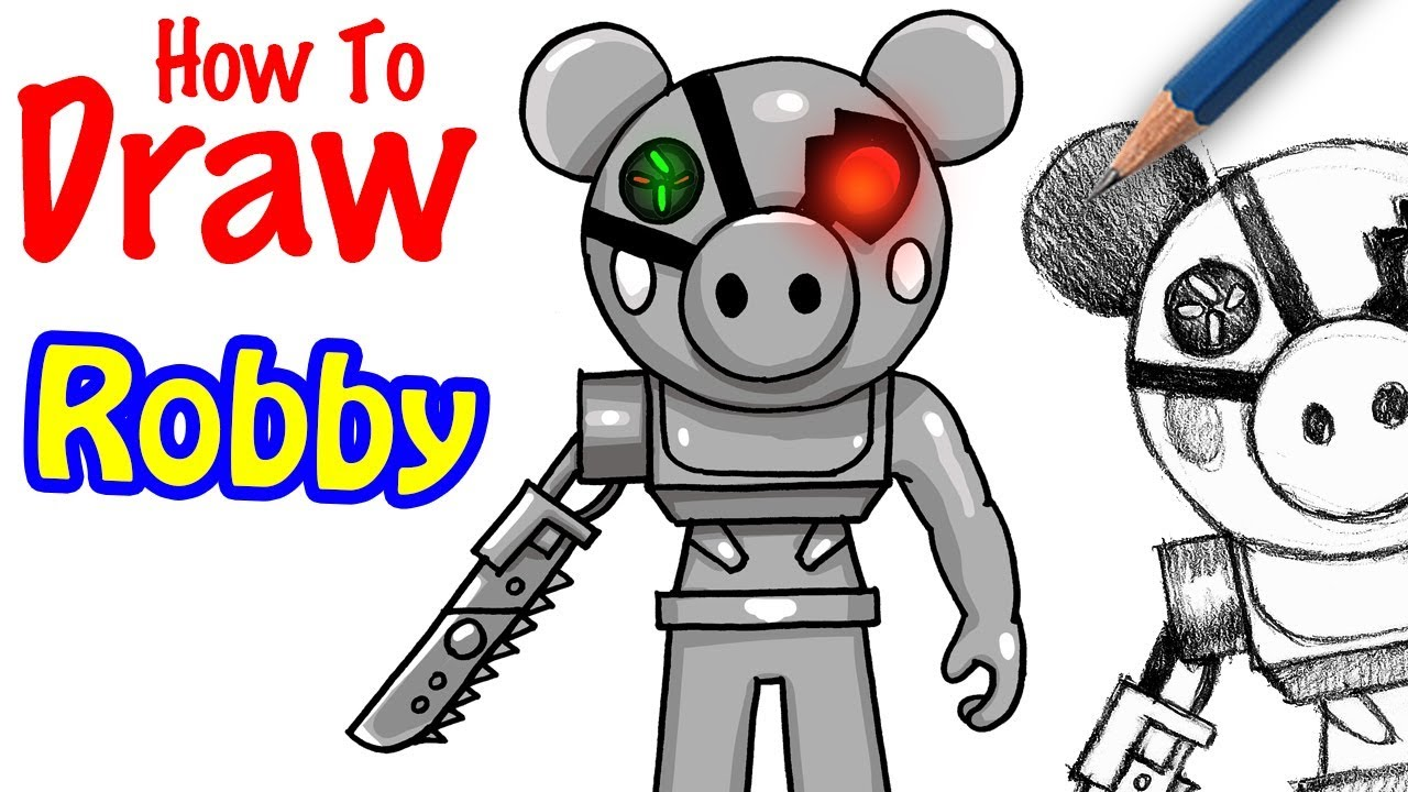 How to Draw Robby | Roblox Piggy - YouTube