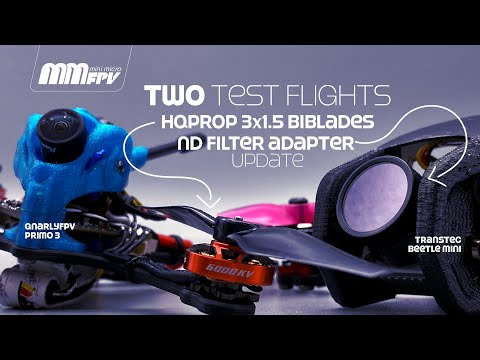 Фото Two Test Flights / HQProp 3x1.5 Biblades / Updated DJI Digital ND Filter Adapter