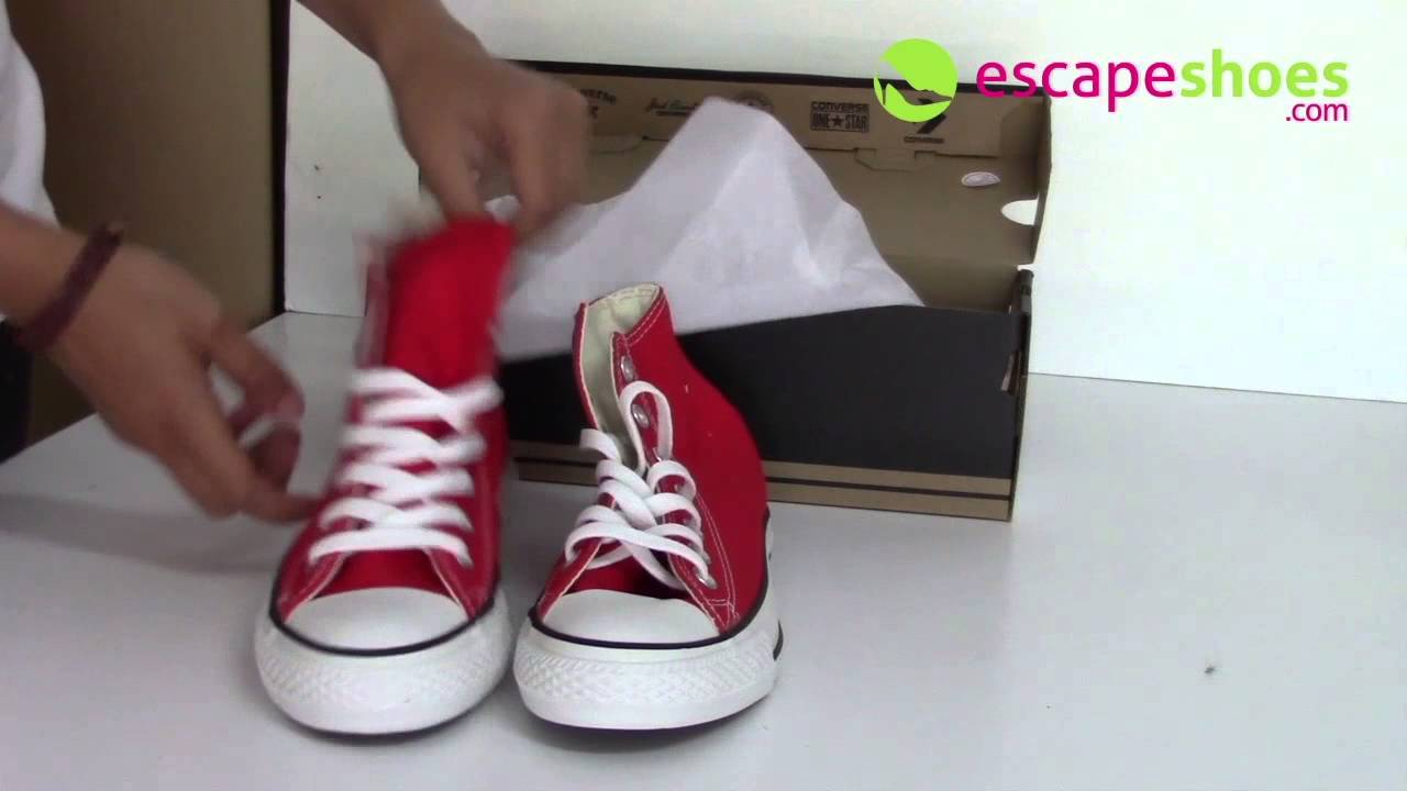 112dd286c Sneakers CONVERSE All Star M9621 600 Hi Red - YouTube