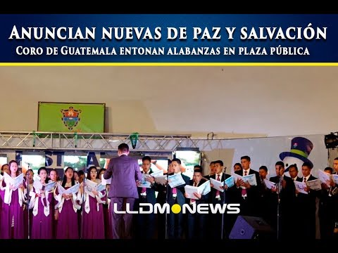 Anuncian nuevas de paz y salvación, coro metropolitano de Guatemala en plaza pública.