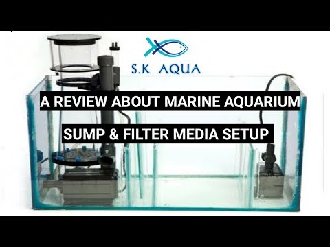 A review about marine aquarium sump & filter media setup. [TAMIL]